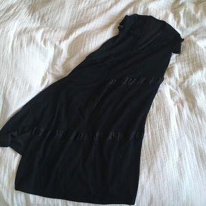 ZARA asymmetrical maxi dress w/ short sleeves